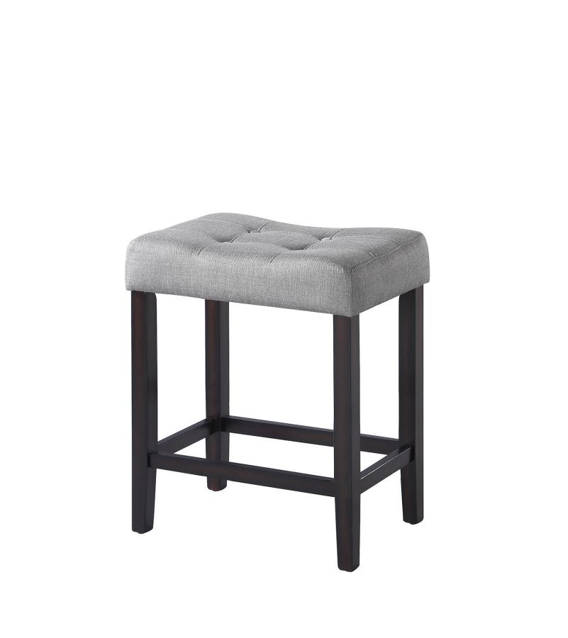 Admirable Casual Grey Upholstered Counter Height Stool Pack Of 2 Gamerscity Chair Design For Home Gamerscityorg