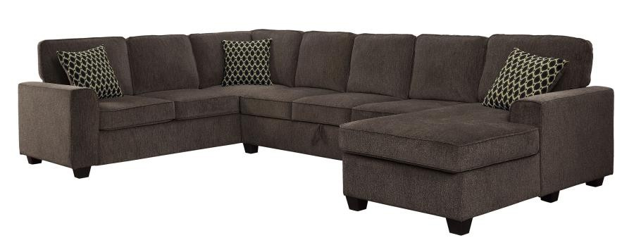 Provence Transitional Brown Sectional 501686 Sectional