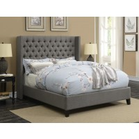 BENICIA UPHOLSTERED BED -  Benicia Grey Upholstered King Bed