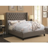 Benicia Grey Upholstered Queen Bed