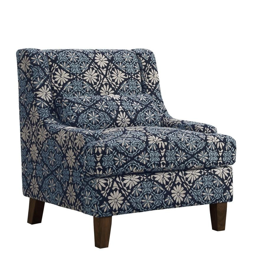 Magnificent Coltrane Transitional Indigo Accent Chair 506253 Chairs Short Links Chair Design For Home Short Linksinfo