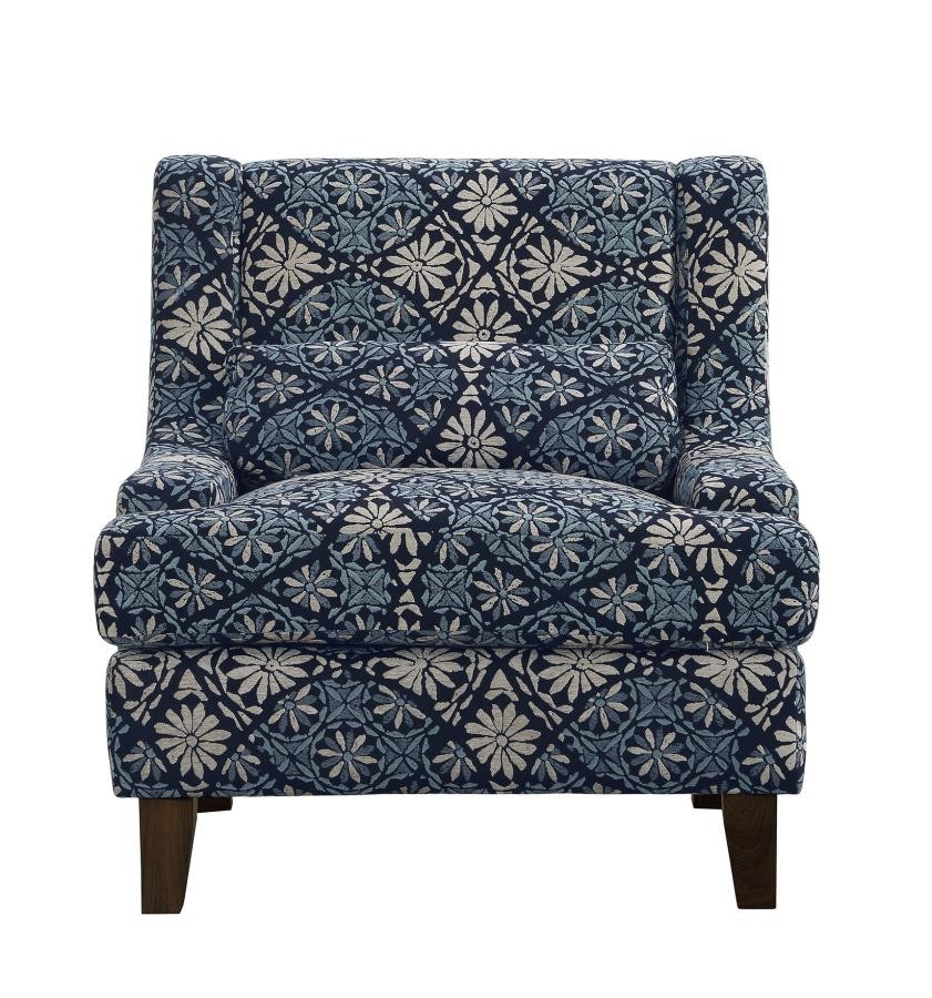 Coltrane transitional indigo accent chair 506253 - Unique accent chairs for living room ...