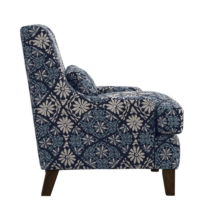 Outstanding Coltrane Transitional Indigo Accent Chair 506253 Chairs Short Links Chair Design For Home Short Linksinfo