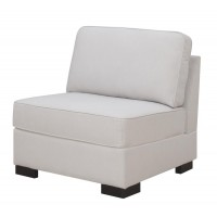 Wylder Transitional Ivory Armless Chair
