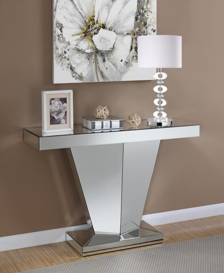 size 40 0e1a4 22a00 Contemporary Silver Console Table