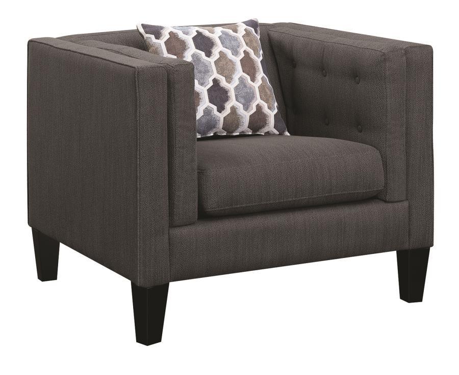 Awe Inspiring Sawyer Modern Dusty Blue Chair Theyellowbook Wood Chair Design Ideas Theyellowbookinfo