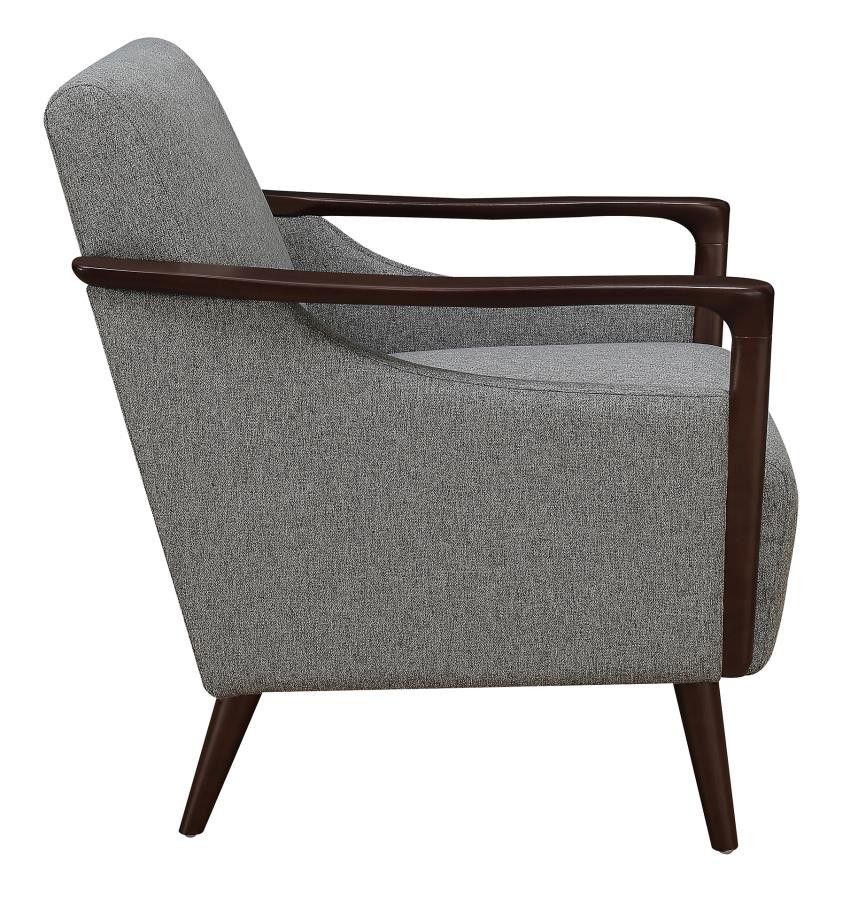Remarkable Mid Century Modern Grey Accent Chair Inzonedesignstudio Interior Chair Design Inzonedesignstudiocom