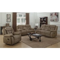 HIGGINS MOTION COLLECTION - Houston Casual Tan Motion Loveseat