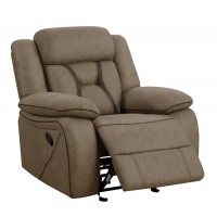 HIGGINS MOTION COLLECTION - Houston Casual Tan Glider Recliner