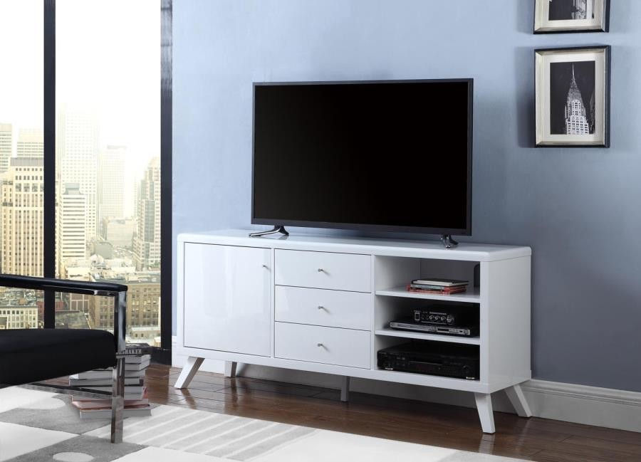 Contemporary White Tv Stand 721081 Tv Stands And Media Centers Casabella Furniture