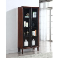 ACCENT CABINET TWO DOORS+GLASS