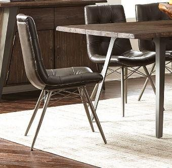 Hutchinson Industrial Grey Dining Chair (Pack of 4)