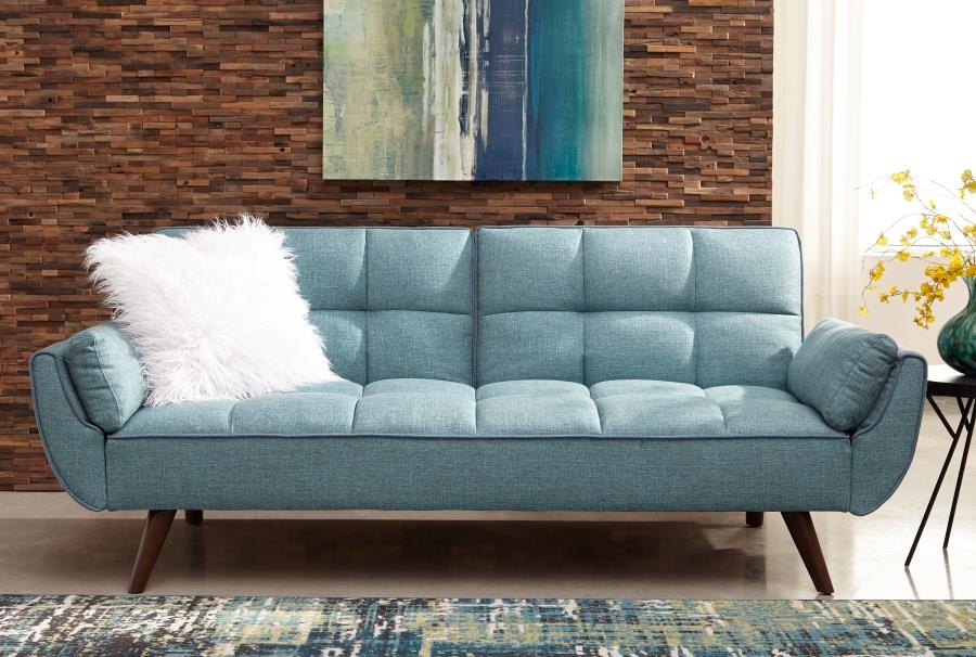 Fantastic Skylar Transitional Blue Sofa Bed Pdpeps Interior Chair Design Pdpepsorg