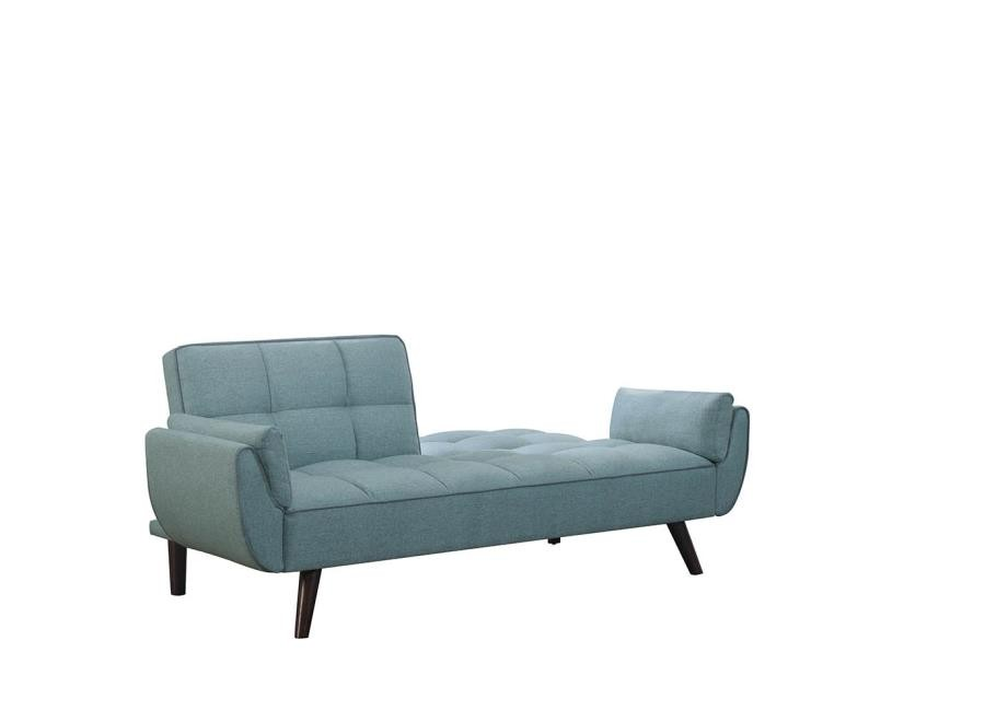 Super Skylar Transitional Blue Sofa Bed Gmtry Best Dining Table And Chair Ideas Images Gmtryco