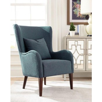 Dark teal winged accent chair 903370 living room - Dark teal accent chair ...