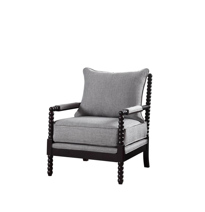 Traditional Grey And Cappuccino Accent Chair 903824