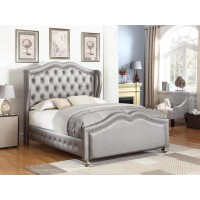 BELMONT UPHOLSTERED BED - Belmont Grey Upholstered Queen Bed