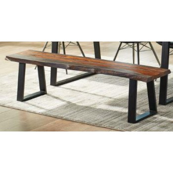 Jamestown Rustic Grey Bench
