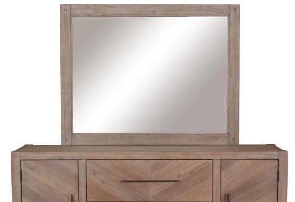 AUBURN COLLECTION -  Auburn White-Washed Mirror