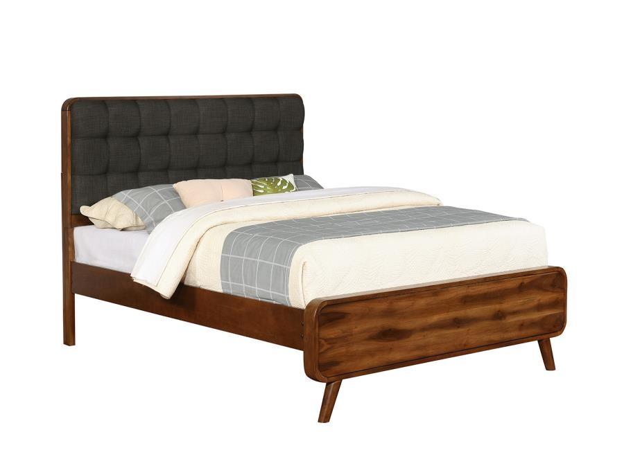 . ROBYN   Robyn Mid Century Modern Dark Walnut Queen Bed