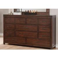 ARTESIA COLLECTION -  Artesia Dark Cocoa Six-Drawer Dresser
