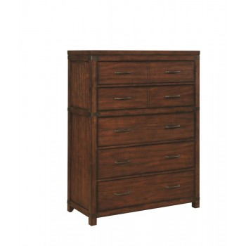 ARTESIA COLLECTION -  Artesia Dark Cocoa Five-Drawer Chest