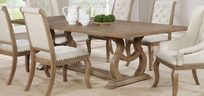 GLEN COVE COLLECTION -  Glen Cove Traditional Barley Brown Dining Table