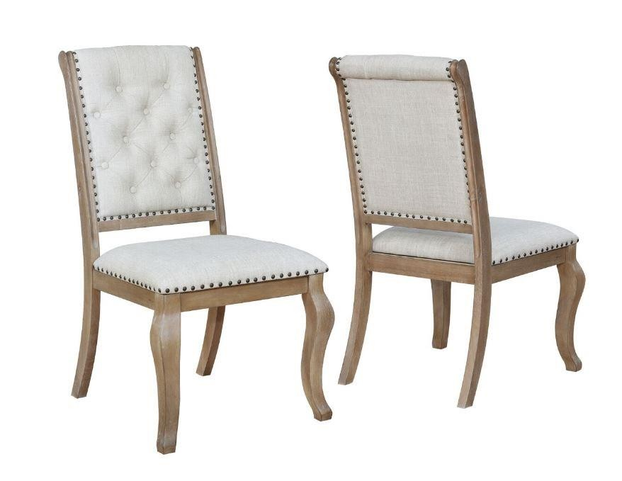 GLEN COVE COLLECTION -  Glen Cove Traditional Cream Dining Chair (Pack of 2)