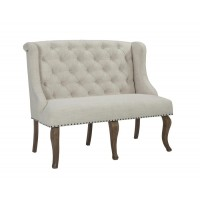 GLEN COVE COLLECTION -  Glen Cove Traditional Cream Bench