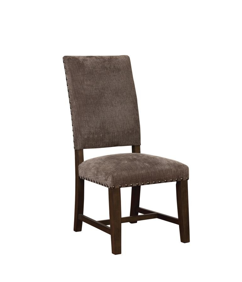 TWAIN -  Contemporary Grey Upholstered Parson Chair (Pack of 2)