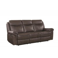 SAWYER MOTION COLLECTION - Sawyer Transitional Brown Motion Sofa