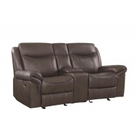 SAWYER MOTION COLLECTION - Sawyer Transitional Brown Motion Loveseat