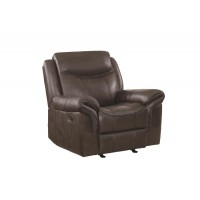 SAWYER MOTION COLLECTION - Sawyer Transitional Brown Glider Recliner