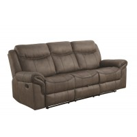 SAWYER MOTION COLLECTION - Sawyer Transitional Taupe Motion Sofa