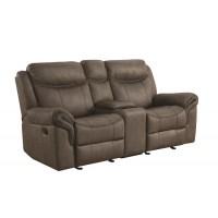 SAWYER MOTION COLLECTION - Sawyer Transitional Taupe Motion Loveseat