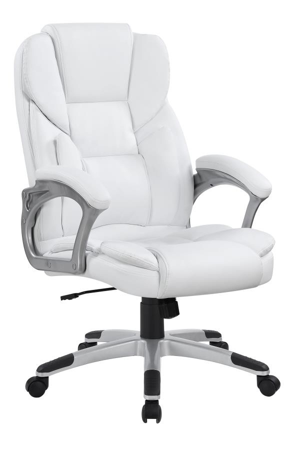 Tremendous Home Office Chairs Casual White Faux Leather Office Chair Gmtry Best Dining Table And Chair Ideas Images Gmtryco