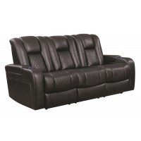 DELANGELO MOTION COLLECTION - Delangelo Black Power Motion Reclining Sofa