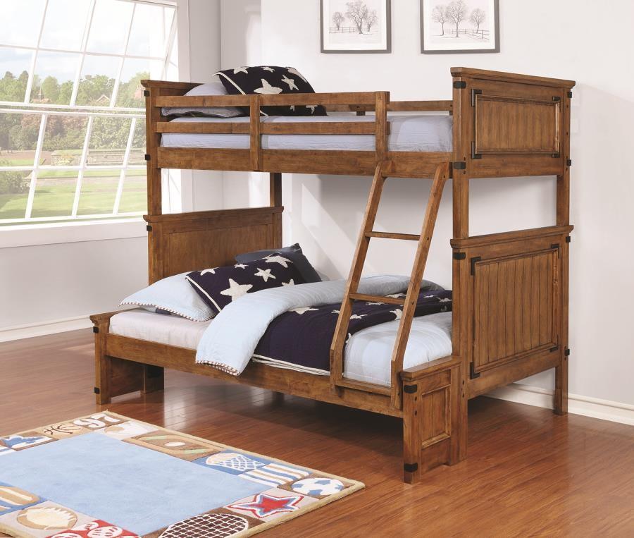 CORONADO BUNK BED - Coronado Rustic Honey Twin-over-Full Bunk Bed