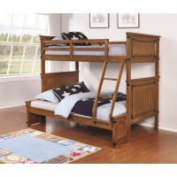 CORONADO BUNK BED - Coronado Rustic Honey Twin-over-Full Bunk Bed
