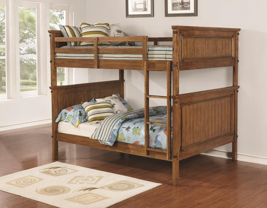 CORONADO COLLECTION - Coronado Rustic Honey Full-over-Full Bunk Bed