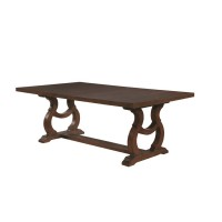 GLEN COVE COLLECTION -  Glen Cove Traditional Dark Brown Dining Table