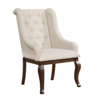 GLEN COVE COLLECTION -  Glen Cove Traditional Cream Arm Chair (Pack of 2)