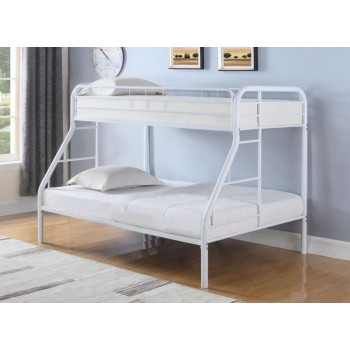 MORGAN BUNK BED - Morgan  White Twin Full Bunk Bed