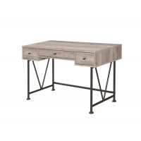 ANALIESE COLLECTION - Guthrie Industrial Grey Driftwood Writing Desk