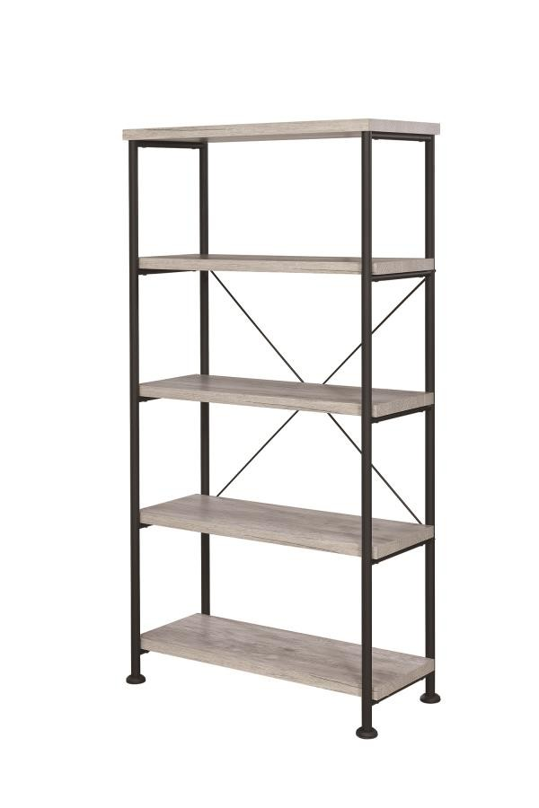 ANALIESE COLLECTION - Guthrie Industrial Grey Driftwood Bookcase