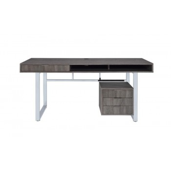 WHITMAN COLLECTION - Contemporary Weathered Grey Writing Desk