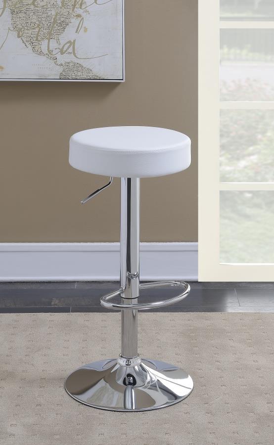 Terrific Modern White Adjustable Bar Stool Andrewgaddart Wooden Chair Designs For Living Room Andrewgaddartcom