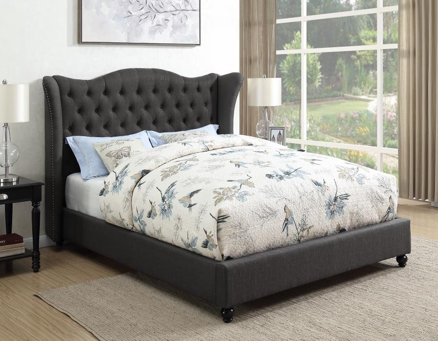 Sensational Newburgh Upholstered Bed Newburgh Blue Grey Upholstered Queen Bed Download Free Architecture Designs Scobabritishbridgeorg