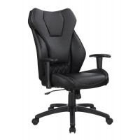 HOME OFFICE : CHAIRS - Contemporary Black High-Back Office Chair