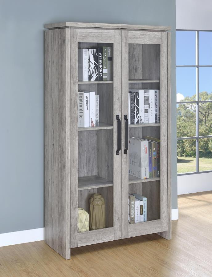 Rustic Grey Curio Cabinet 950783 Curio Mega Furniture